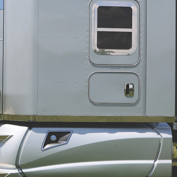 """Kenworth T680 T880 76"""" Blank Sleeper Panels With Fusion LED Lights By Roadworks - Default"""