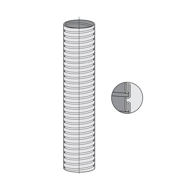 """8"""" Dynaflex Flex Pipe Drawing"""