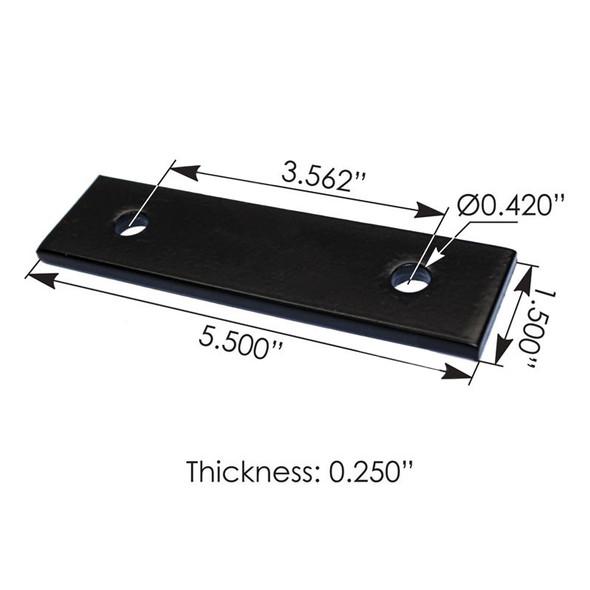Kenworth Step Plate Bracket K3501630 K350-1630 Dimensions