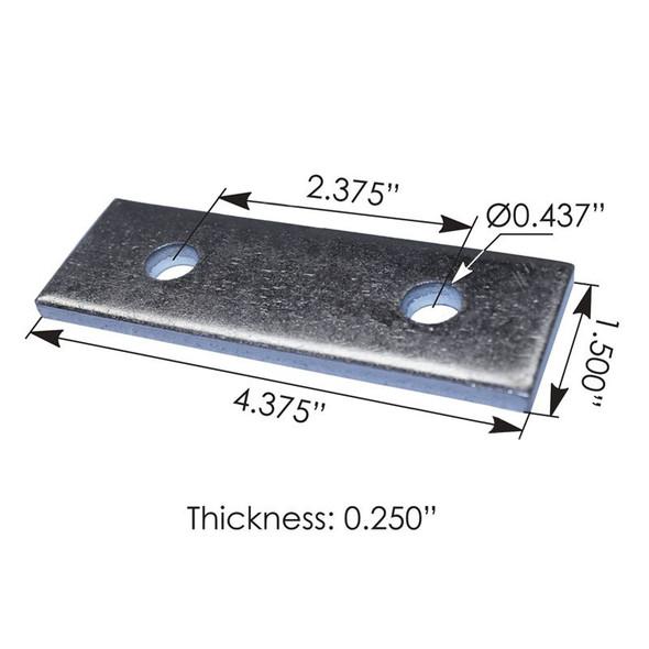 Kenworth Step Plate Bracket K350930 K350-930 Dimensions