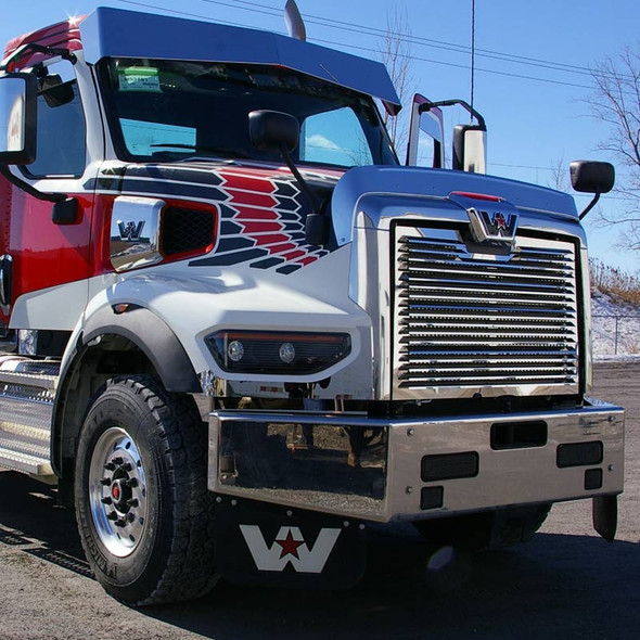 Western Star 49X Short Hood Front Grill (Front View)