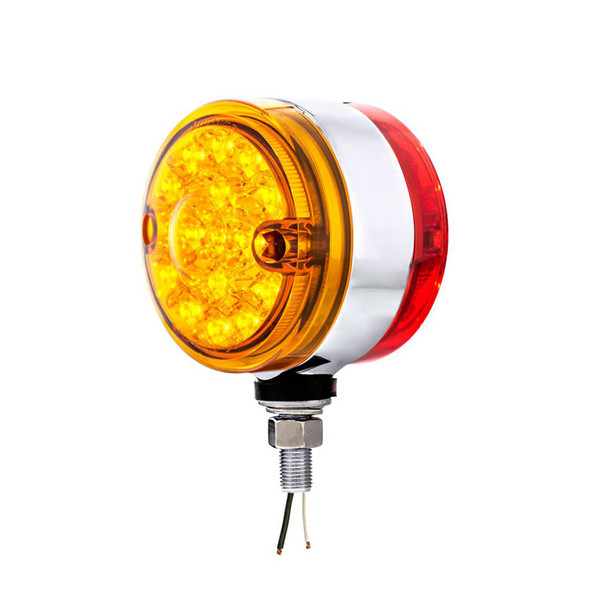 15 LED Double Face Light With Reflector Amber Lens LEDs On