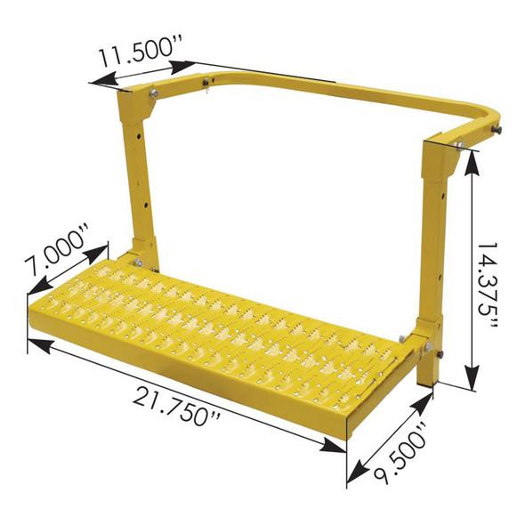 Heavy Duty Adjustable Wheel Step Dimensions