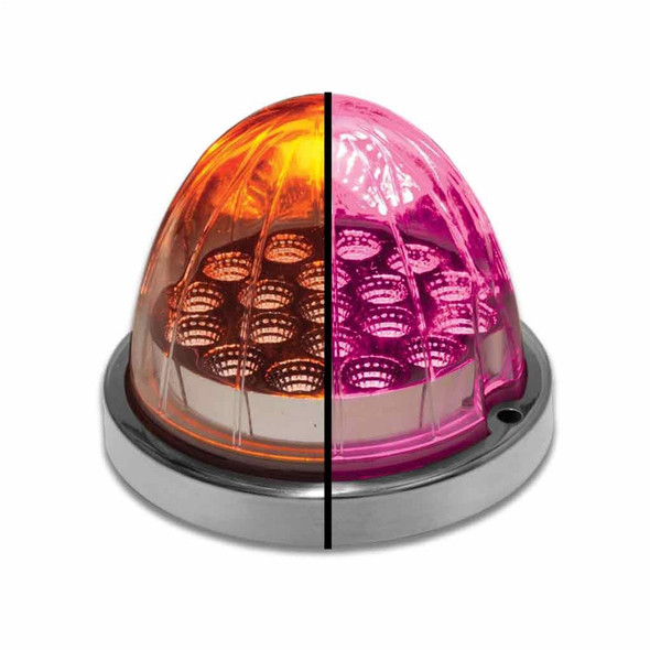 Dual Revolution Watermelon LED Breast Cancer Awareness Pink & Amber Turn Signal And Marker Light - Default