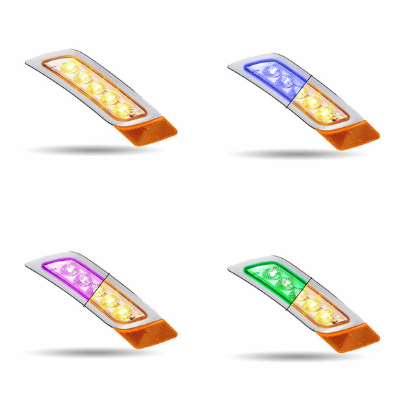 Peterbilt 567 579 587 Dual Revolution Fender Turn Signal LED Light - All Colors