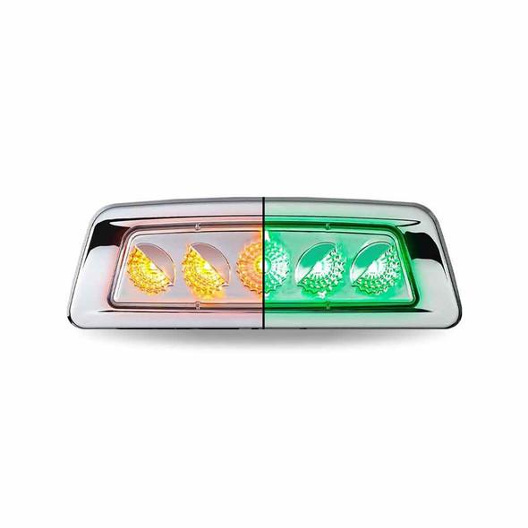 Kenworth Dual Revolution Fender Turn Signal LED Light - Amber/Green