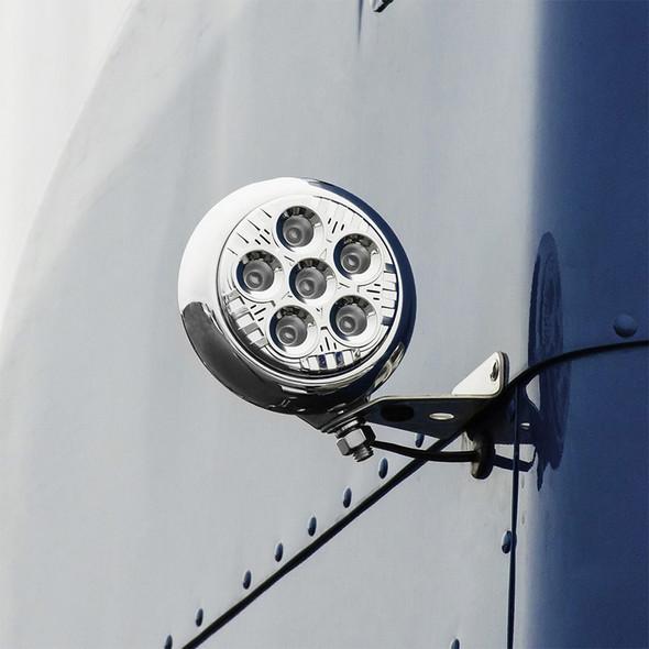 "5"" Round Spot Beam Legacy Series LED Work Light - Chrome"