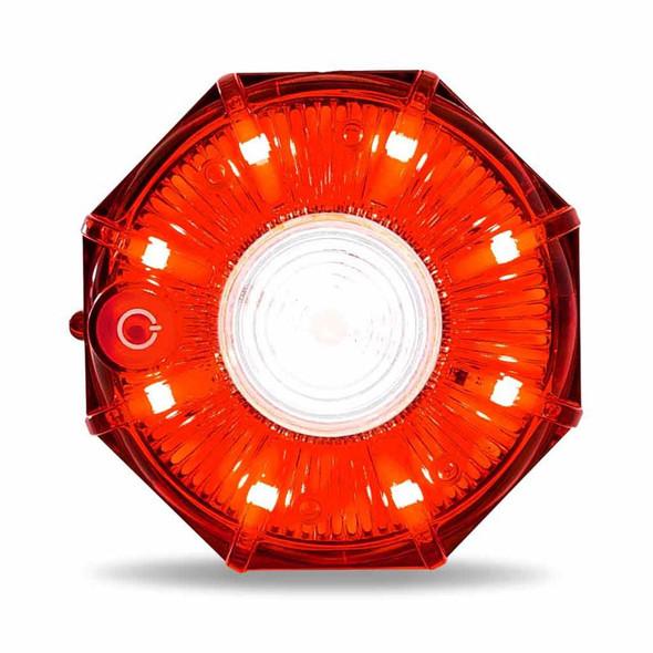 "2"" Dual Color Red White Magnetic Strobe LED Hazard Light"