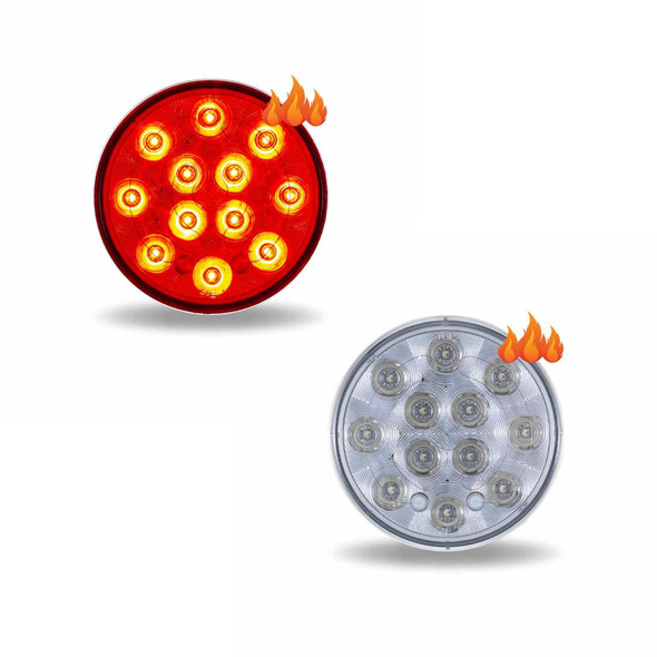 4'' Round Heated Stop Tail Turn LED Light - Both