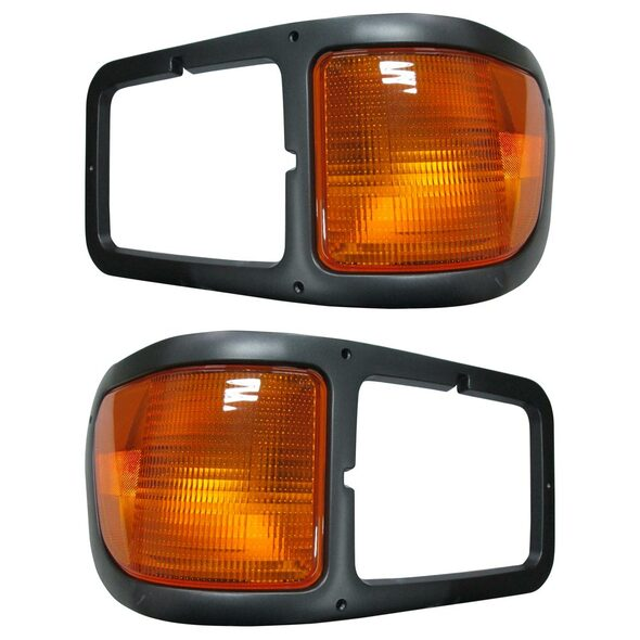 Ford F650 F750 Headlight Bezel With Turn Signal Driver & Passenger Sides