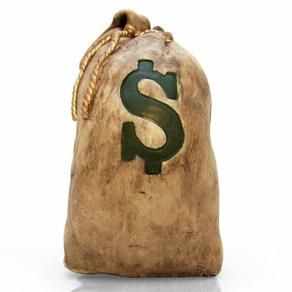 Sack-O-Cash Money Bag Shift Knob - Front