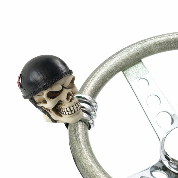 Biker Skull Universal Steering Wheel Spinner - Default