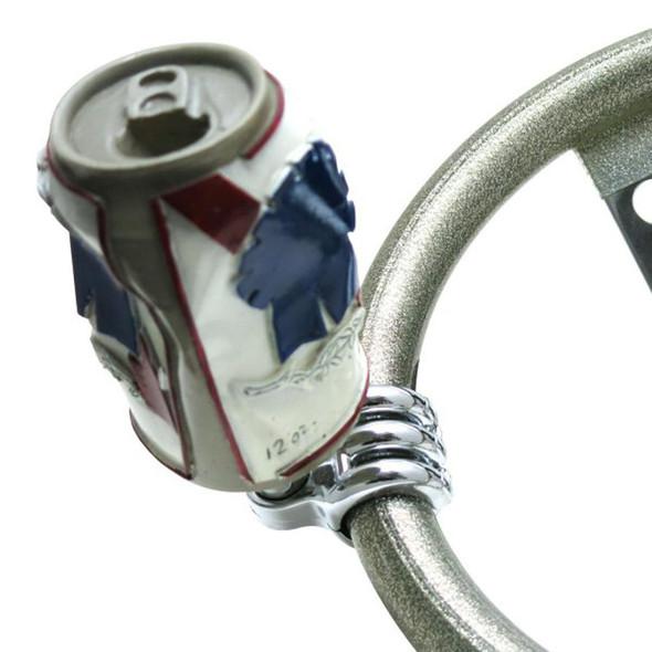 Crushed Beer Can Universal Steering Wheel Spinner - Default