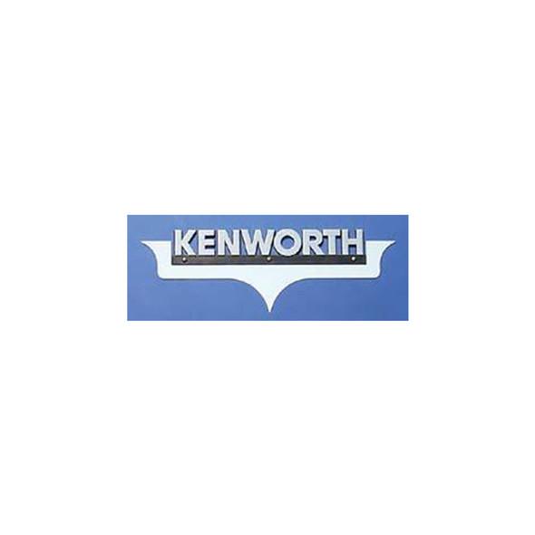 """Kenworth Logo Trim """"Embellisher"""" Hood Emblem Accent - Installed"""