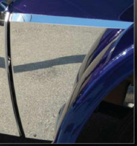 Peterbilt 389 Deluxe Lower Hood Panel - On Truck