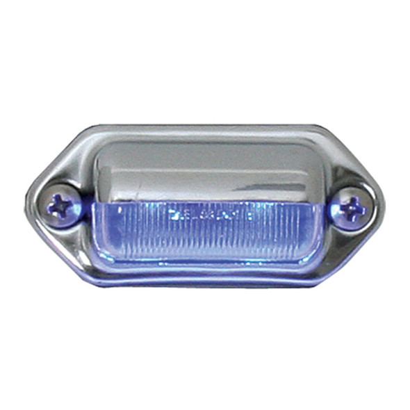 2 Blue LED Step And License Plate Light