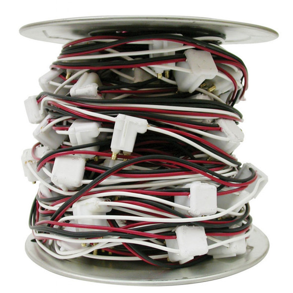 """3 Prong 100 Foot Roll Wire Harness With 12"""" Spacing"""
