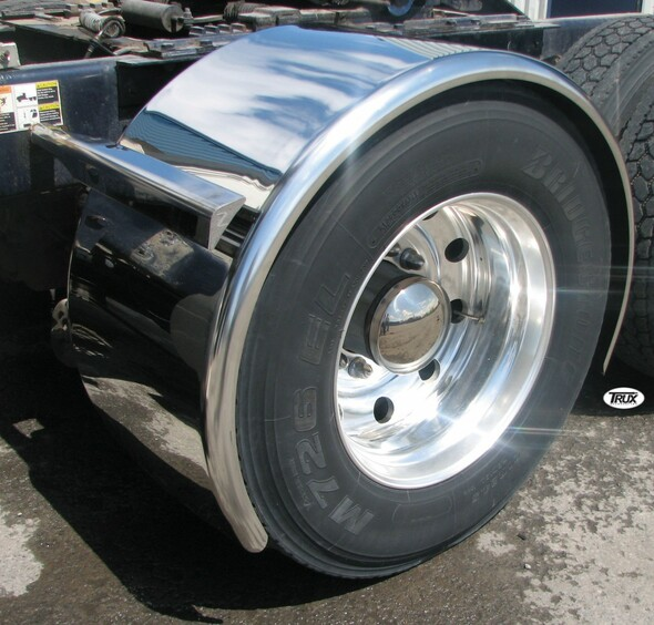 "95"" Super Long Stainless Steel Single Axle Fenders"