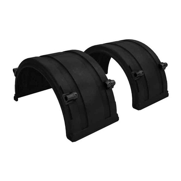 """Black Spray Master FRX Series Single Axle Poly Fenders For 19.5"""" Wheels"""