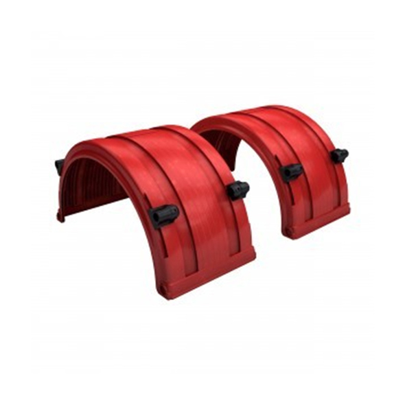 """Red Spray Master FRX Series Single Axle Poly Fenders For 19.5"""" Wheels"""