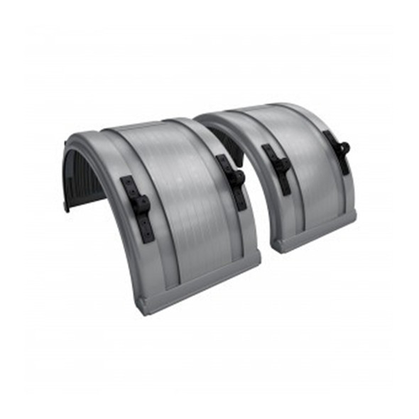 """Grey Spray Master Poly Truck Fenders For 22.5"""" Or 24.5"""" Wheels"""
