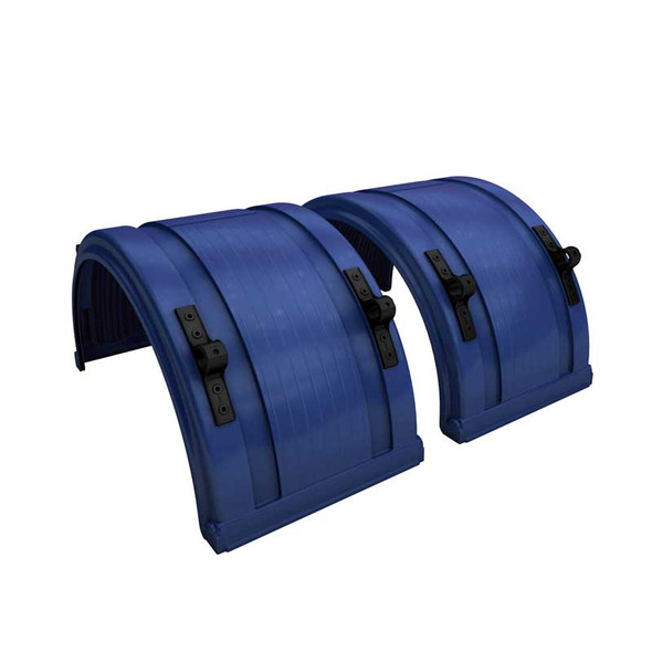 """Navy Blue Spray Master Poly Truck Fenders For 22.5"""" Or 24.5"""" Wheels"""