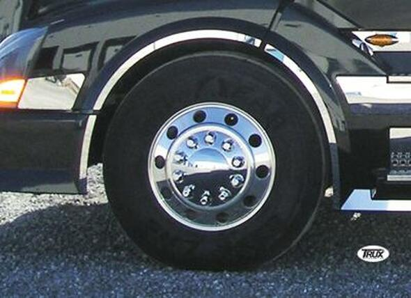 Volvo VNL Front Wheel Fender Trim 2003 & Newer Stainless Steel