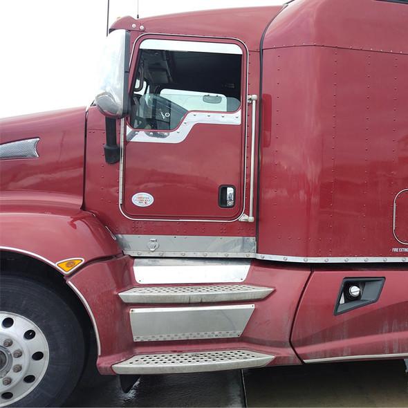 Kenworth Daylite Door Under Window Trim Side View On Red Truck