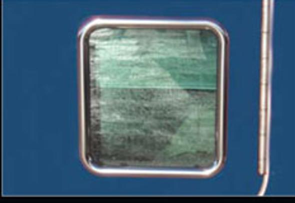 Kenworth View Door Window Trim Close Up