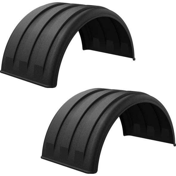 """Minimizer Poly Truck Fenders Black 1600 Series For 16.5"""" Wheels"""