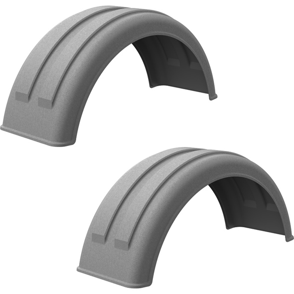 Minimizer Poly Truck Fenders For Single Tire Galvanized Color 161200 Series