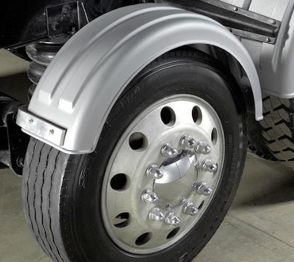 Minimizer Poly Truck Fenders For Single Tire Galvanized Color 161200 Series (Installed)