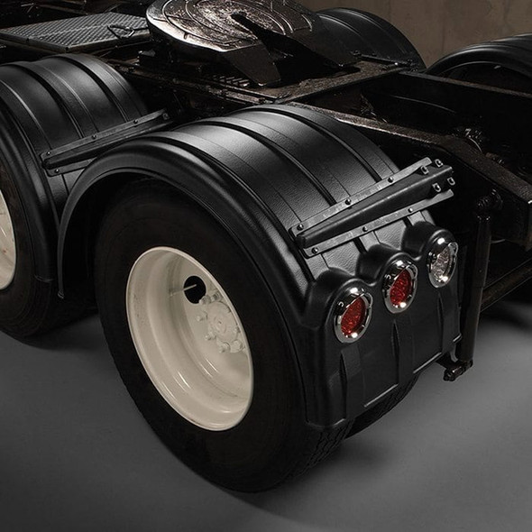 """Minimizer 2260 Series Truck Poly Fenders For 22.5"""" Or 24.5"""" Wheels (Installed; With Lightbox & LED Kit)"""