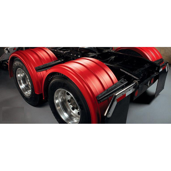 Minimizer Poly Truck Fenders Red Color 2480 Series Back