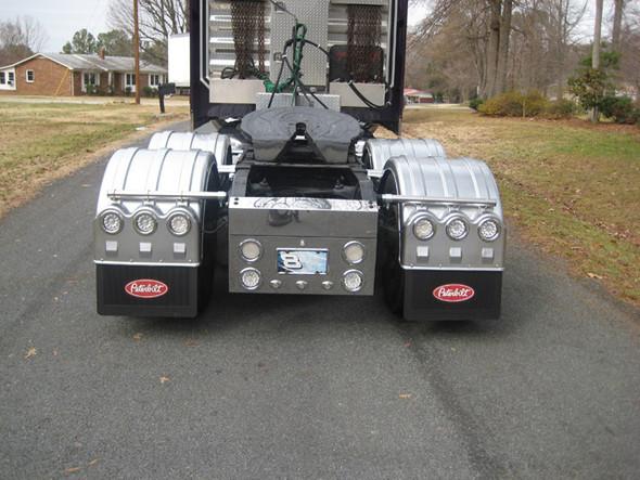 "Minimizer Poly Truck Fenders Tandem Axle 52"" Spread Liquid Platinum (Installed; Rear)"