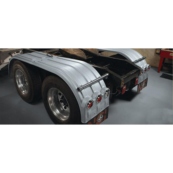 Minimizer Poly Truck Fenders Galvanized Color The Brute 900 Series (Installed; With Lightbox)