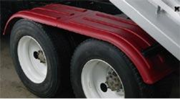 Minimizer Poly Truck Fenders Tandem Axle Red The Work Horse 4000 Series On Truck