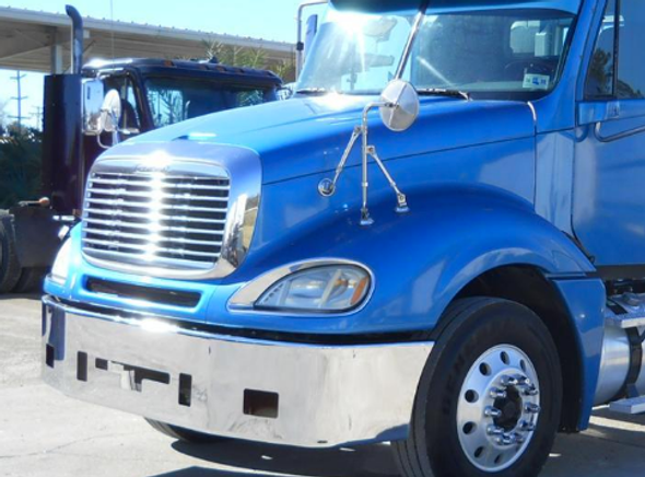 """Freightliner Columbia Bumper 16"""" 2004 & Earlier Bumper By Valley Chrome"""