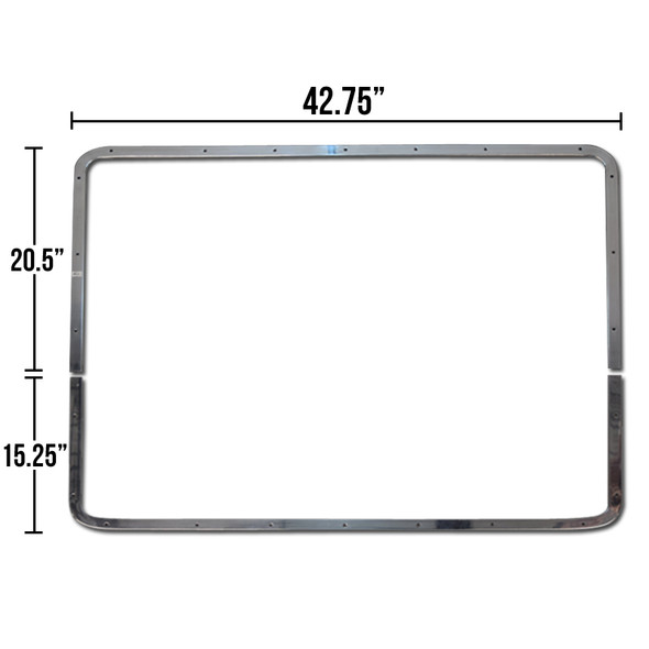 Bezel For Peterbilt 379 Extended Grill Set Of Two Pieces - Dimensions