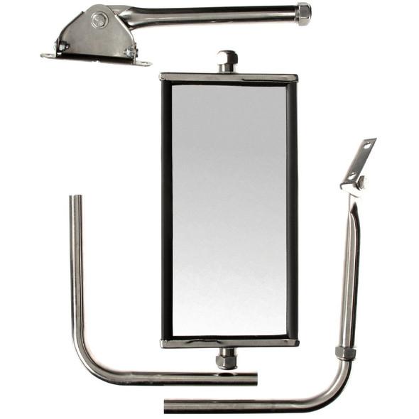 """5"""" x 10"""" Adjustable Jr. West Coast Silver Mirror"""