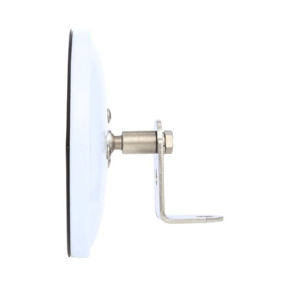 Small Flat Glass Mirror Head White Side View