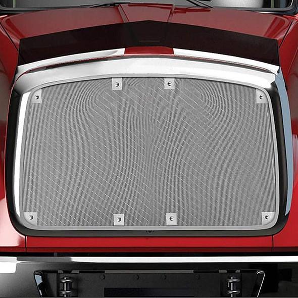 Peterbilt 365/367 Belmor Bug Screen Aluminum w/ Silver Mesh - On Truck View