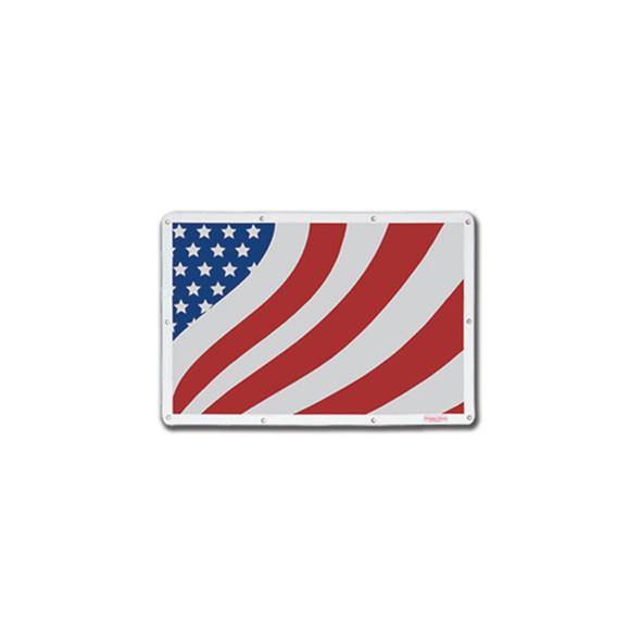 Peterbilt 379 Short Hood Belmor Bug Screen Stylized Flag White Screen