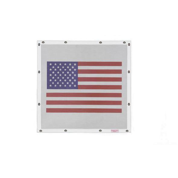 Peterbilt 379 Belmor Bug Screen Fiberglass Traditional American Flag w/ White Screen
