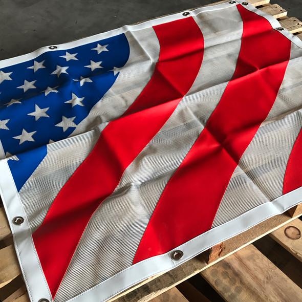 Peterbilt 379 Belmor Bug Screen Fiberglass Stylized American Flag - Flat