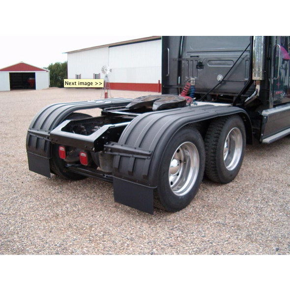 Minimizer Poly Truck Fenders Tandem Axle Black The Brute 900 Series (Installed)