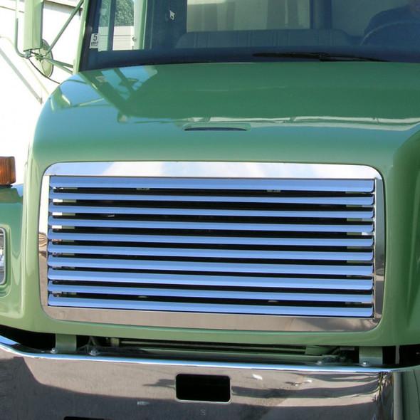 Freightliner FL 50 60 70 80 Stainless Steel Grill Insert On Green Truck