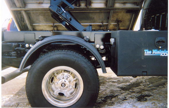 "Minimizer Poly Truck Fenders Black 19.5"" Wheels 1900 Series (Installed; Side)"