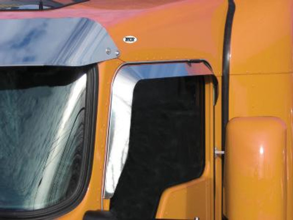 Kenworth Door Window Shade Vent Visor Stainless Steel