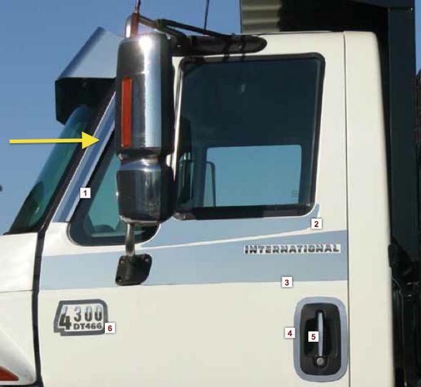 International ProStar LoneStar DuraStar WorkStar Window Air Deflectors By RoadWorks